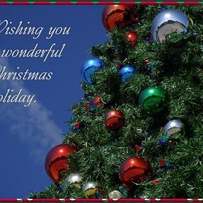 Christmas greetings from Florida.