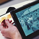 Previewing negative film on an iPad