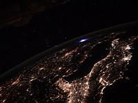 Astronaut Thomas Pesquet photographed rare blue 'transient luminous event' from the ISS