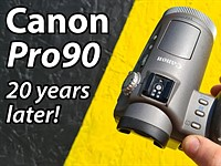 Video: A 'Retro Review' of the 20-year-old Canon Pro90 IS, Canon's first digital camera with optical image stabilization