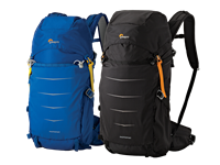 Lowepro Whistler and Photo Sport II backpacks ready for adventure