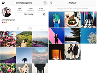 Instagram added an Archive feature to help you de-clutter your profile