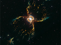 Hubble ushers in 29th anniversary with colorful new Southern Crab Nebula image