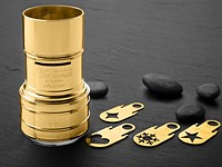 Lomography releases gold-plated Daguerreotype Achromat 64mm F2.9 lens