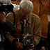 Photographer David Burnett with his large-format, wooden camera was the real hero of today's impeachment hearings