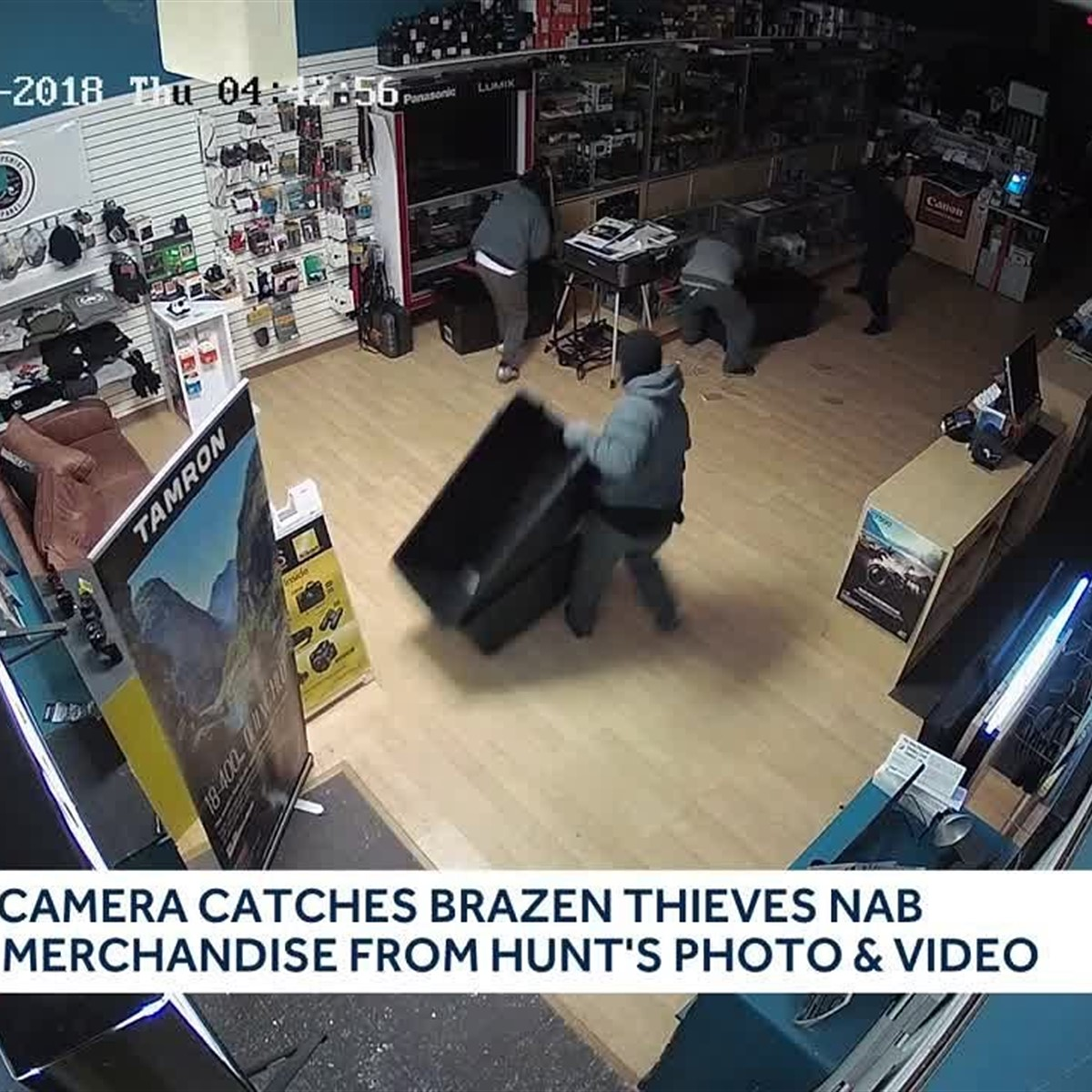 Thieves steal more than $50,000 in equipment from camera