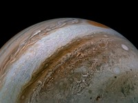 NASA's Juno spacecraft recently captured a stunning image of Jupiter