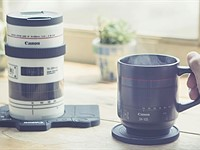 These Canon-branded mugs, tumblers and glasses are made to look like EF, RF lenses