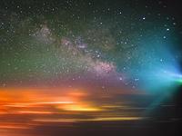 飞越:学习如何从一架飞机拍摄银河系