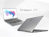 MSI Creator 17 is the world's first laptop with a Mini LED HDR 1000 display