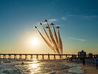 US Navy shares photos, video from the Blue Angels' farewell flight for its Legacy Hornet jets