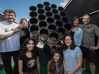An array of Canon 400mm F2.8L II lenses is helping astronomers discover new galaxies