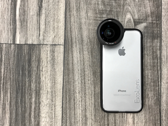 ExoLens Case for iPhone 7 supports Zeiss lenses while protecting phone