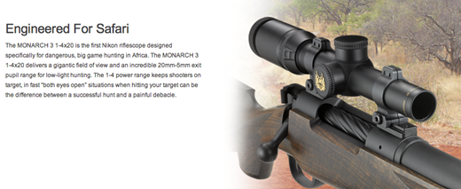 Nikon under fire over rifle scopes designed for 'dangerous game
