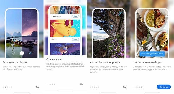 """适用于Android和iOS的Adobe Photoshop Camera应用程序,提供AI驱动的""""镜头""""插图(1)"""