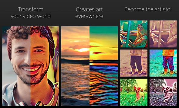 Artisto is like the Prisma app, but for videos 1