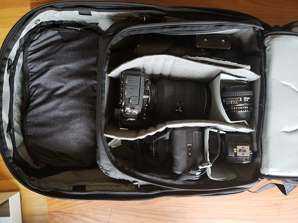 56462a6472 Here s the Camera Cube (medium) packed with a full camera kit inside the Travel  Backpack 45L alongside a Packing Cube (small).