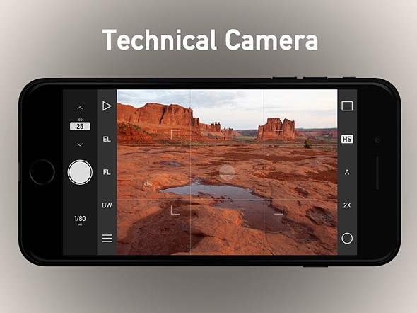 Technical Camera is an iPhone camera app for advanced users