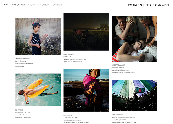 Women Photograph is a directory of female photographers 1