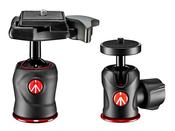 Manfrotto launches a trio of new center ball heads