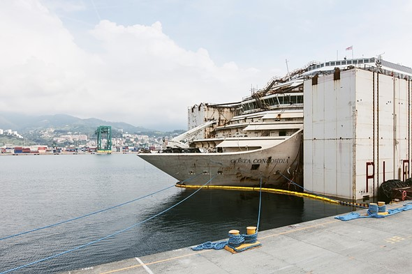 Haunting photos from inside the wrecked cruise ship Costa Concordia 2