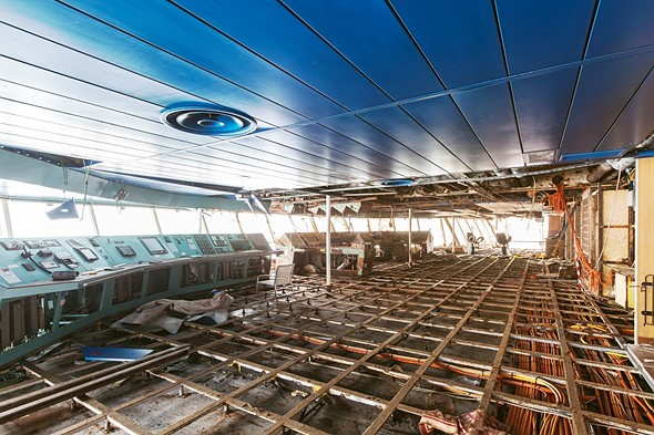 Haunting photos from inside the wrecked cruise ship Costa Concordia 14