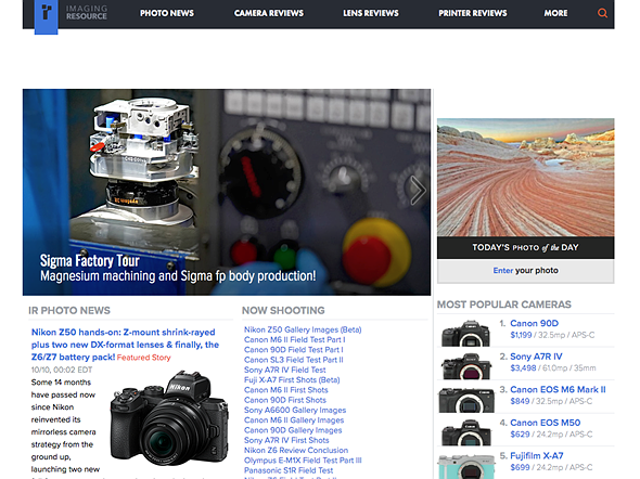 The end of an era? Digital camera review site Imaging Resource set to close