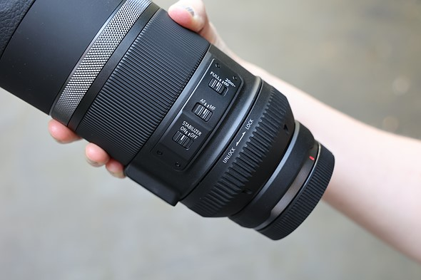 Larger filter ring, longer minimum focus