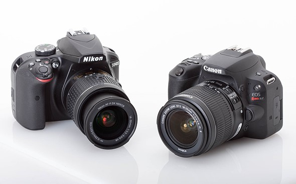 Entry-level DSLRs compared: Canon EOS Rebel SL2 vs. Nikon D3400
