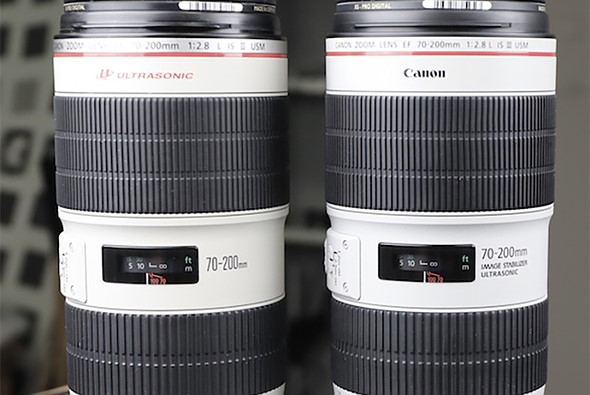 LensRentals Canon EF 70-200mm F2.8 Mark III and Mark II teardown