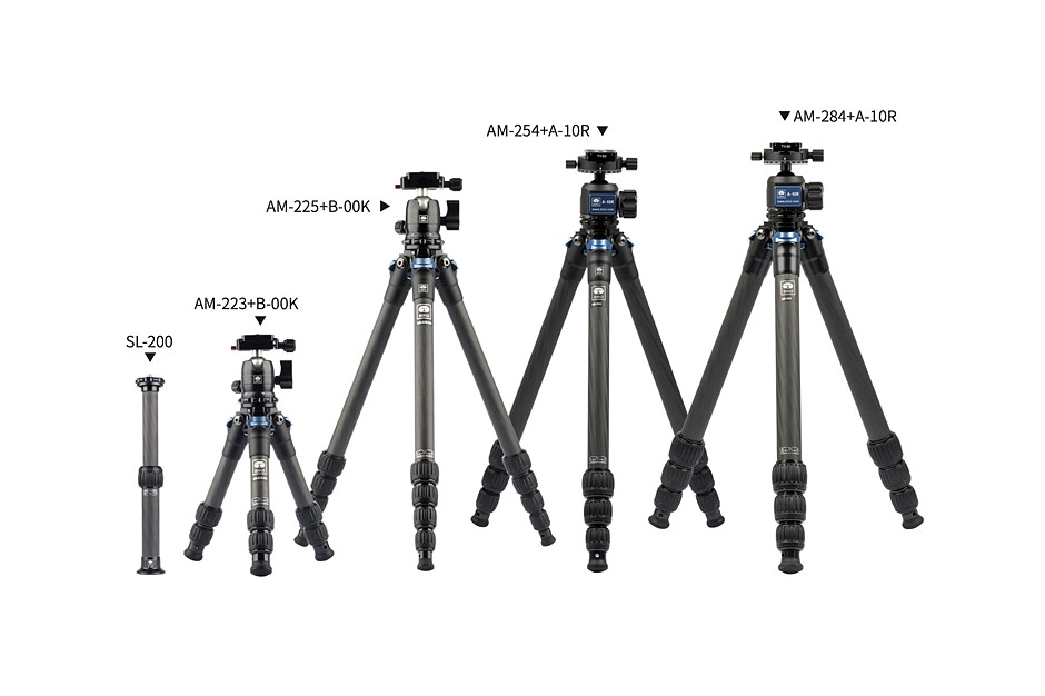 Sirui launches AM-2 Travel carbon fiber tripod series with five models and a ball head
