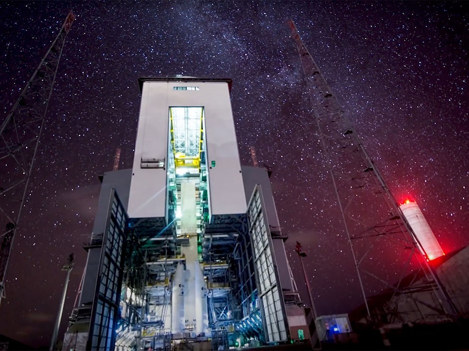Video: Starry time-lapse at the ESA's Ariane 6 rocket launch site