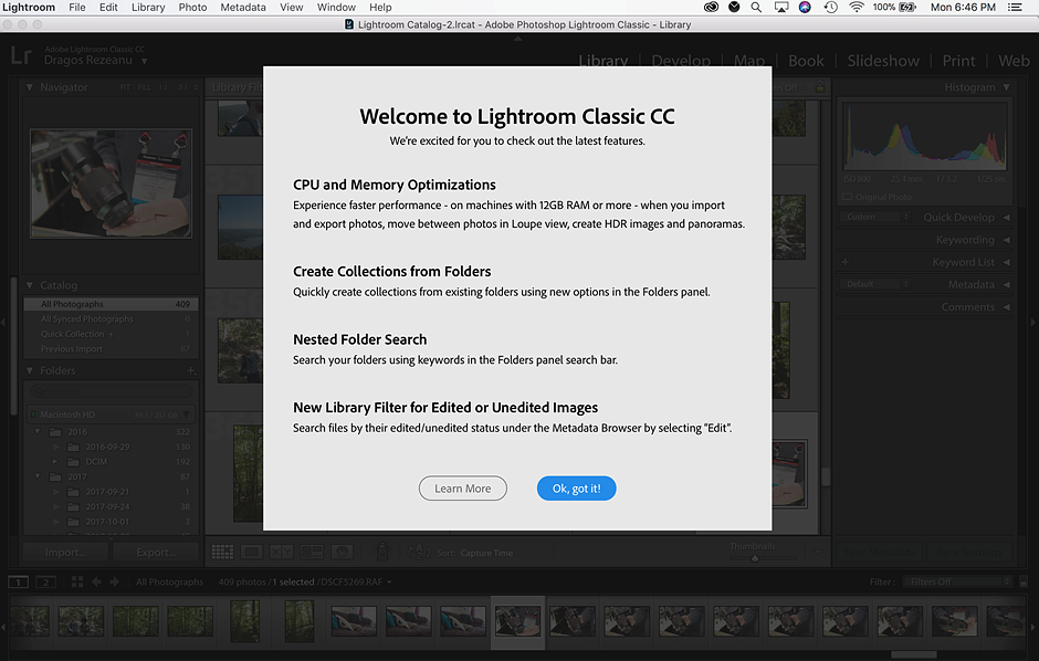 Lightroom Classic 7.2: Major performance boost, new features, and more