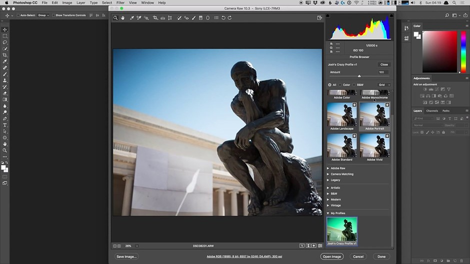 Adobe shows you how to make your own Profiles in Camera Raw