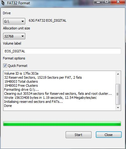 Re: t3i and 60d can't read sandisk extreme 64GB SD: Canon