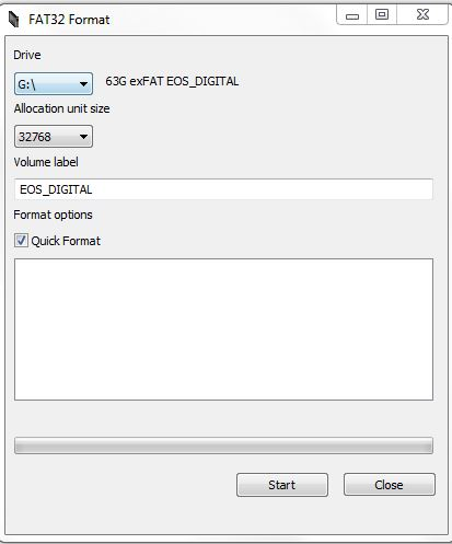t3i and 60d can't read sandisk extreme 64GB SD: Canon EOS 7D