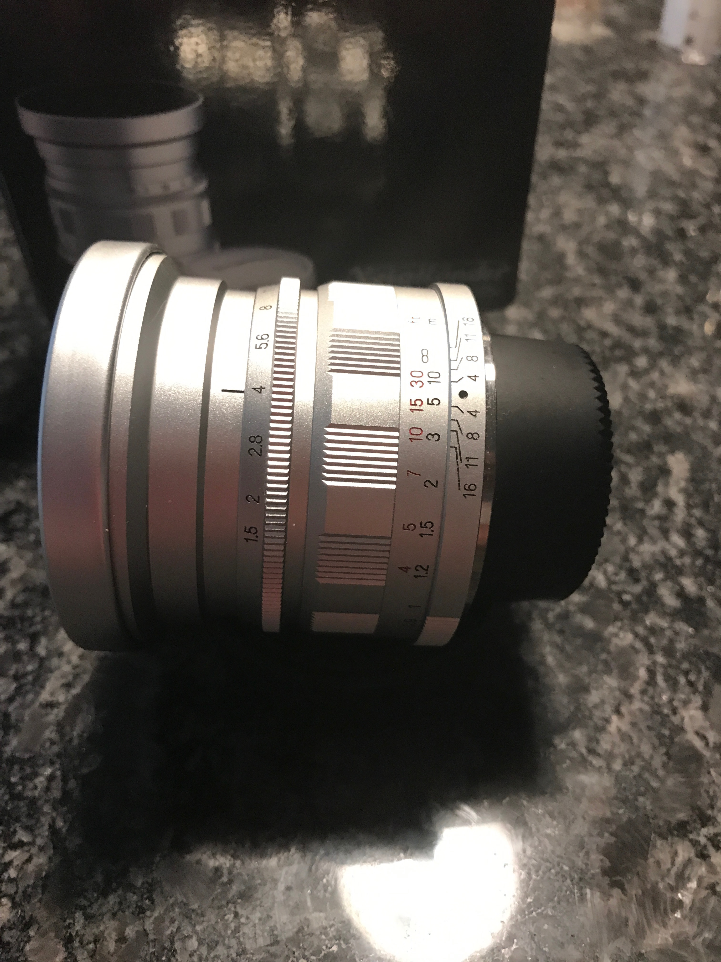 Voigtlander Silver M39 Screw Mount Nokton 50mm F15 Aspherical For Lens Hood Cameras 52mm View Original Size