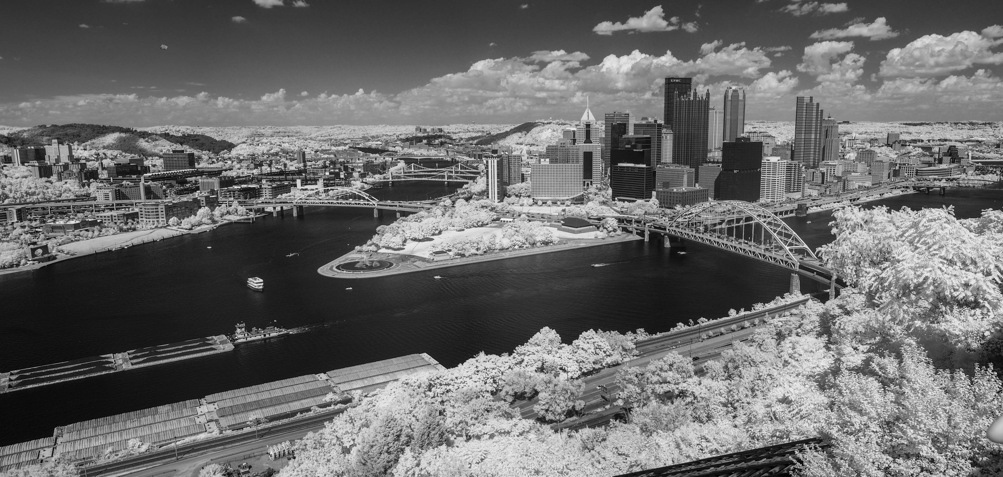 a couple of new m4/3 Infrared images Pittsburgh and