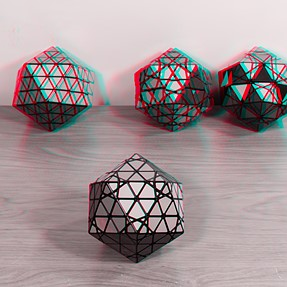 B&W Anaglyph of Puzzles