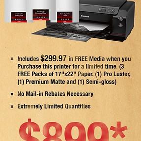 Sale on Canon Pro-1000 (U.S.)