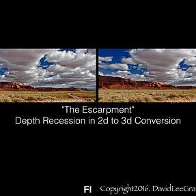 Depth recession in 2d to 3d conversions