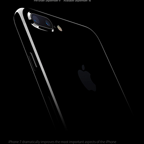 iPhone 7 Plus with dual cameras and zoom