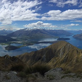 a55 Panorama from Roys Peak, NZ