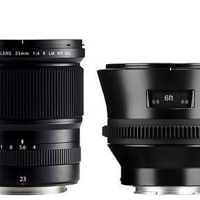 Fujifilm's GF mount lenses are surprisingly small