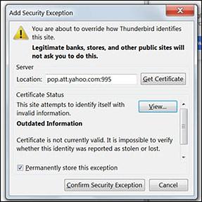 att email certificate expired