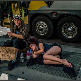 Charming street beggars