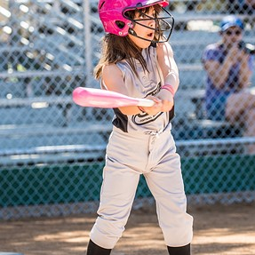 Young Girls Softball - How to make pictures more exciting.