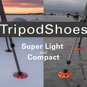 Tripod mud/sand shoes