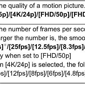 Time Lapse video settings (Panasonic GX8)