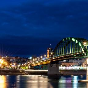 A bridge in the evening
